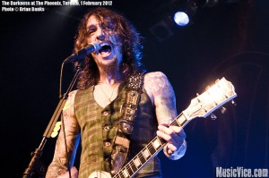 The Darkness at The Phoenix, Toronto, 1 February 2012 - photo by Brian Banks, Music Vice