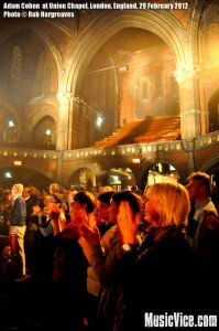 Adam Cohen at Union Chapel, London - photo by Rob Hargreaves, Music Vice