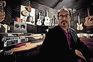 Mark Zubek in the studio