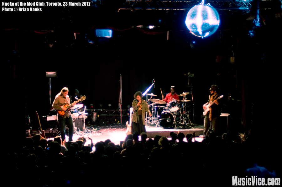 Nneka and her band at the Mod Club, Toronto - photo Brian Banks, Music Vice
