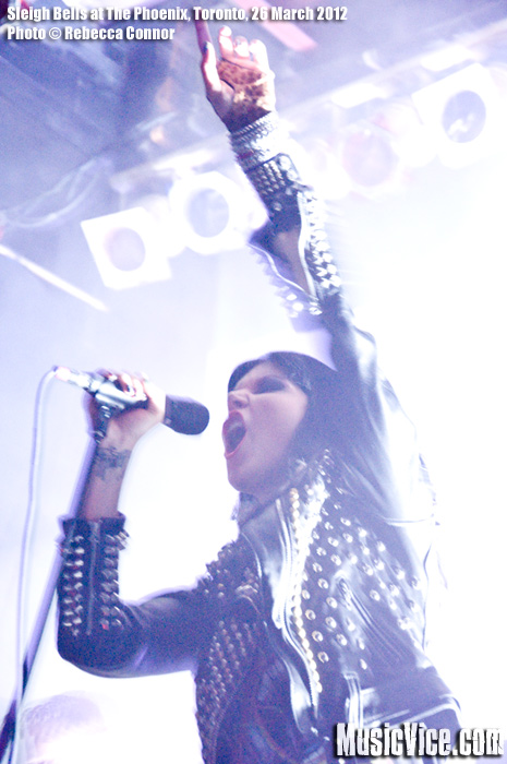 Sleigh Bells at The Phoenix, Toronto - photo Rebecca Connor, Music Vice