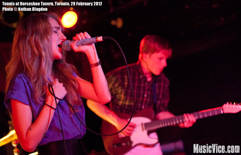 Tennis at the Horseshoe Tavern, Toronto, 29 February 2012 - photo Nathan Blagdon, Music Vice