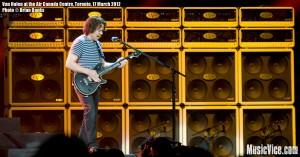 Van Halen at the ACC Toronto - Eddie Van Halen - photo Brian Banks, Music Vice