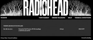 Radiohead sold out