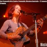 Ani DiFranco at Fremantle Arts Centre, Western Autralia - photo Danny Crombie, Music Vice