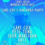 Carl Cox free 50th birthday party 30 July 2012 Ibiza