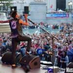 Hedley at Trafalgar Square, London, Canada Day 2012 concert - photo Nic Marsden, Music Vice