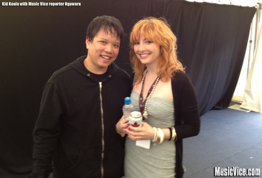Kid Koala with Music Vice Magazine reporter Ngawara Madison