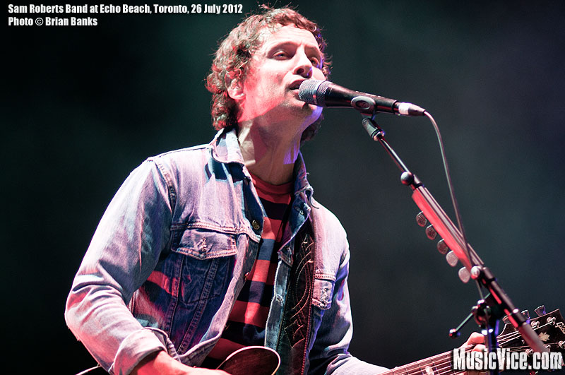 Sam Roberts at Echo Beach, Toronto, 26 July 2012 - photo Brian Banks, Music Vice