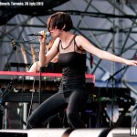 The Jezabels at Echo Beach, Toronto, 26 July 2012 - photo Brian Banks, Music Vice