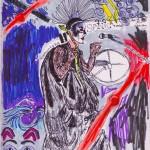 Yamantaka // Sonic Titan sketch drawing by Natascha Malta, MusicVice.com