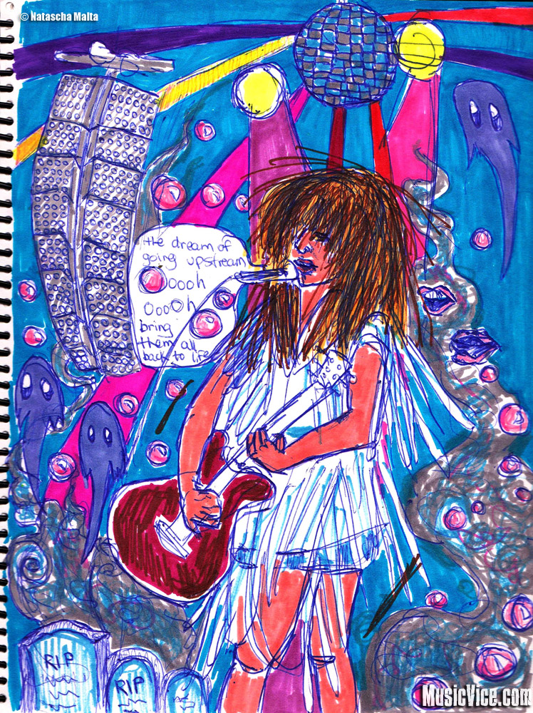 Field Trip sketchbook Feist by Natascha Malta, MusicVice.com