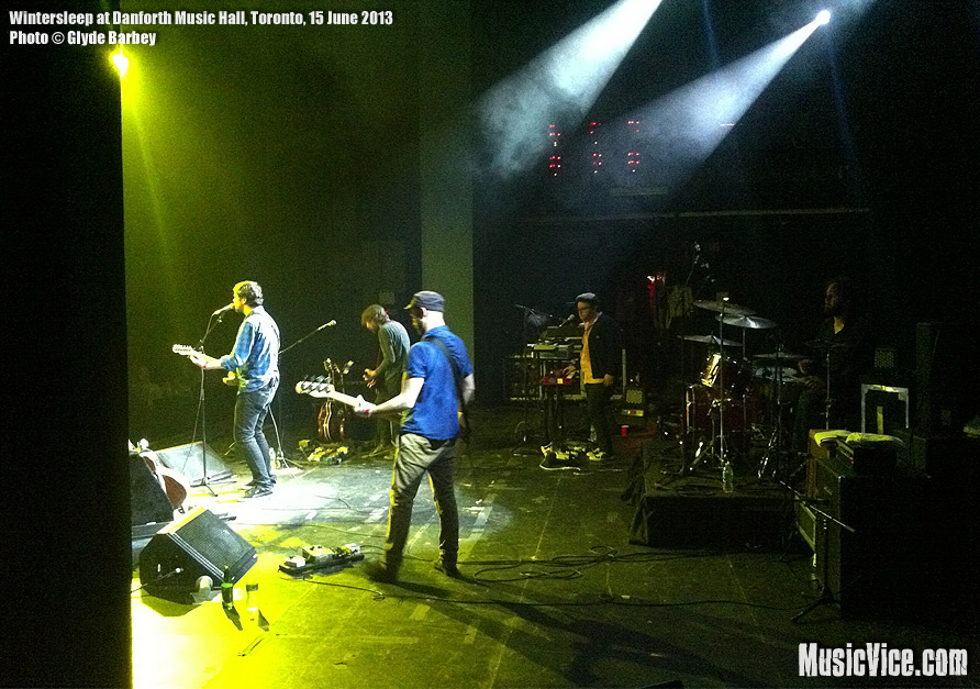 Wintersleep at Danforth Music Hall, Toronto - photo Glyde Barbey, Music Vice