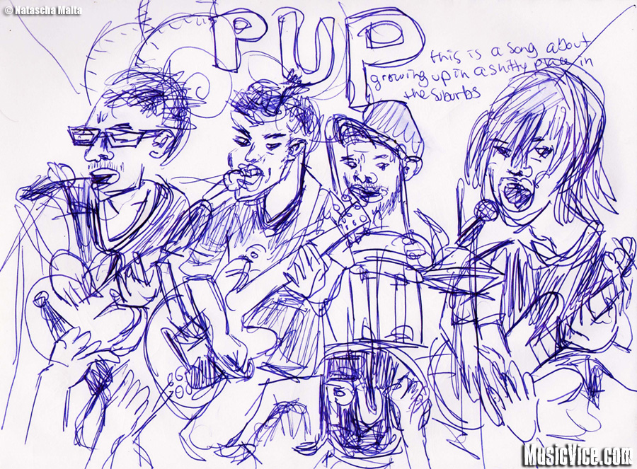 PUP sketch by Natascha Malta, Music Vice