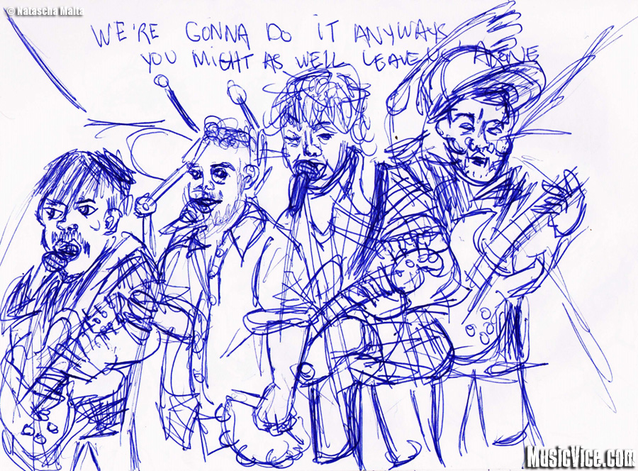 Pkew Pkew Pkew sketch by Natascha Malta, Music Vice