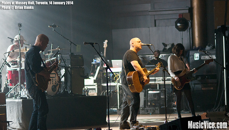 Pixies at Massey Hall, Toronto - photo by Brian Banks, Music Vice Magazine