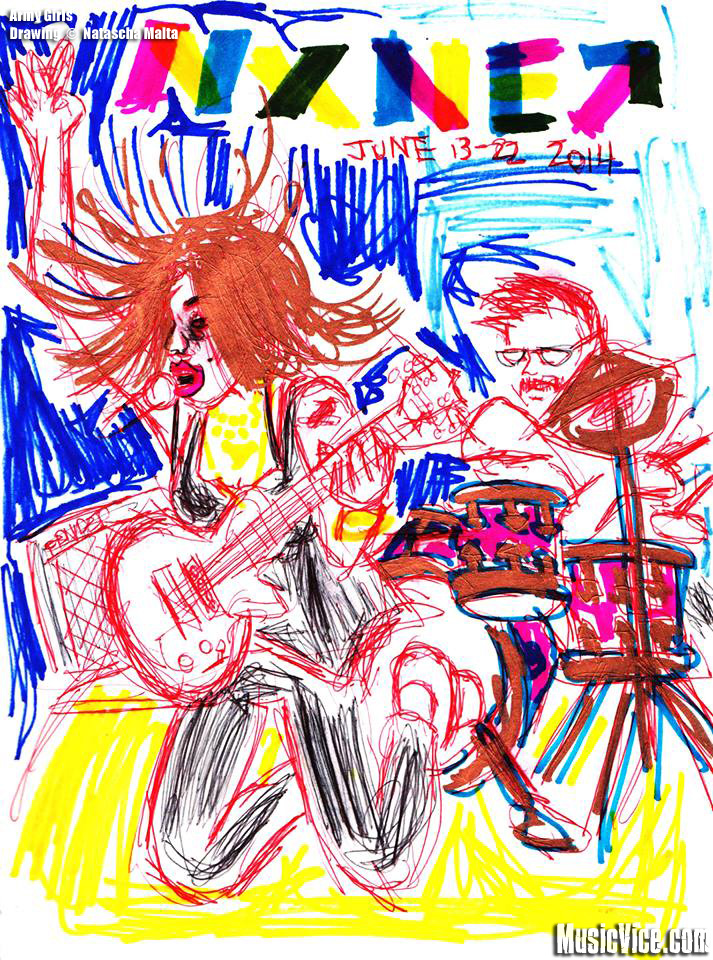 Army Girls sketch drawing by Natascha Malta, Music Vice