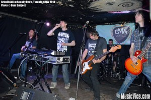 GrimSkunk at Sneaky Dee's, Canadian Music Week 2014 - photo Dani Subject, Music Vice