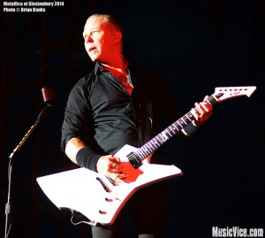Metallica at Glastonbury Festival 2014 - photo Brian Banks, Music Vice, all rights reserved