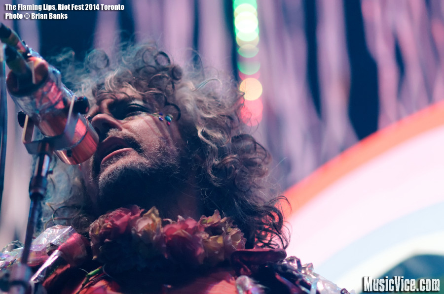 The Flaming Lips, Wayne Coyne at Riot Fest Toronto - photo by Brian Banks