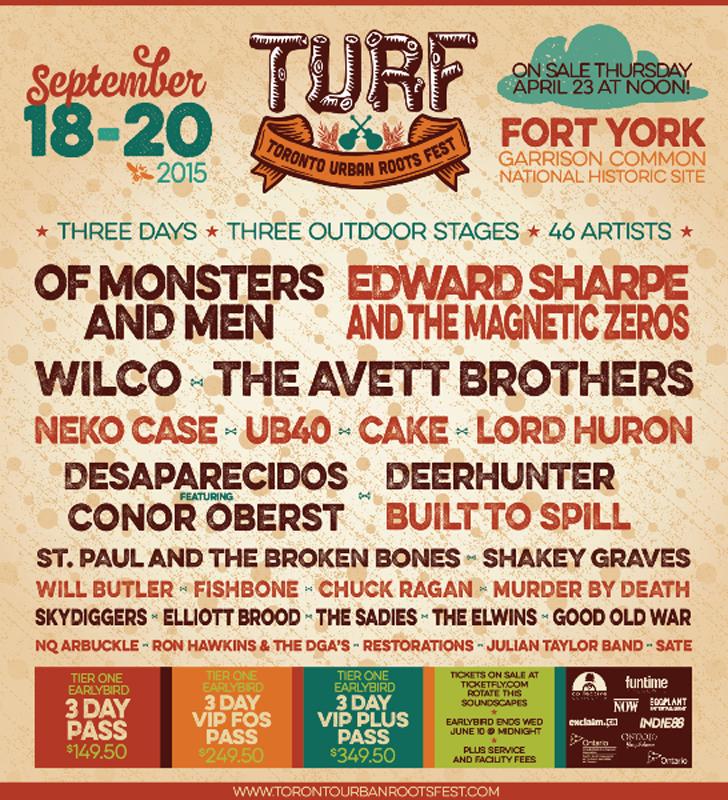 TURF announces artists for 2015 festival