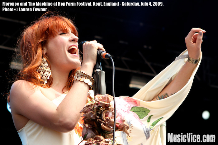 Florence and The Machine at Hop Farm Festival - photo by Lauren Towner, MusicVice.com
