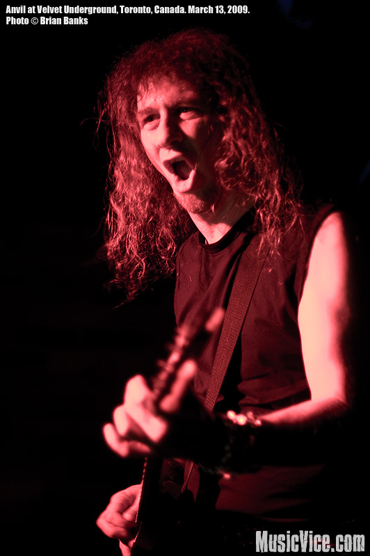 Steve 'Lips' Kudlow of Anvil at Canadian Music Week 2009 - photo by Brian Banks