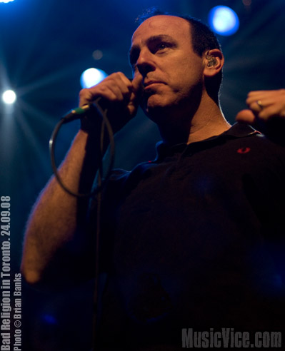 Greg Graffin, vocals, Bad Religion - New Maps Of Hell tour, Toronto