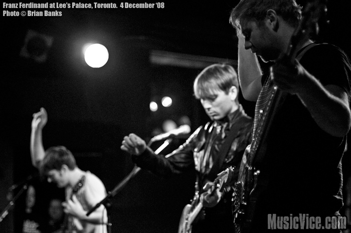 Franz Ferdinand - photo by Brian Banks, Music Vice