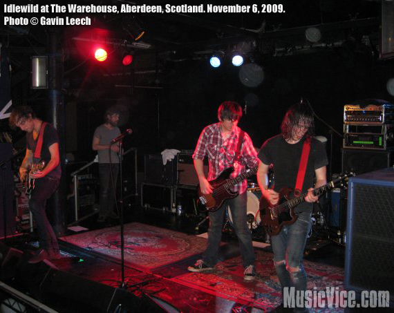 Idlewild at The Warehouse, Aberdeen, Scotland, November 6, 2009 - photo by Gavin Leech, Music Vice