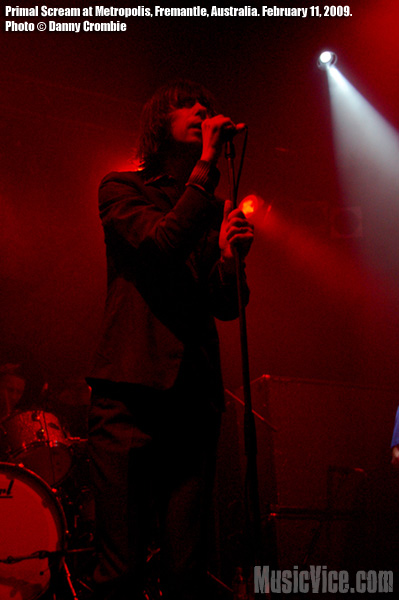 Primal Scream at Metropolis, Fremantle, Australia - photo by Danny Crombie