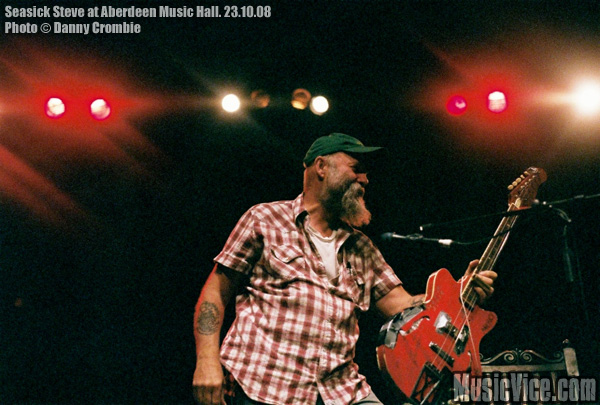 Seasick Steve at Aberdeen Music Hall, October 2008. Photo by Danny Crombie