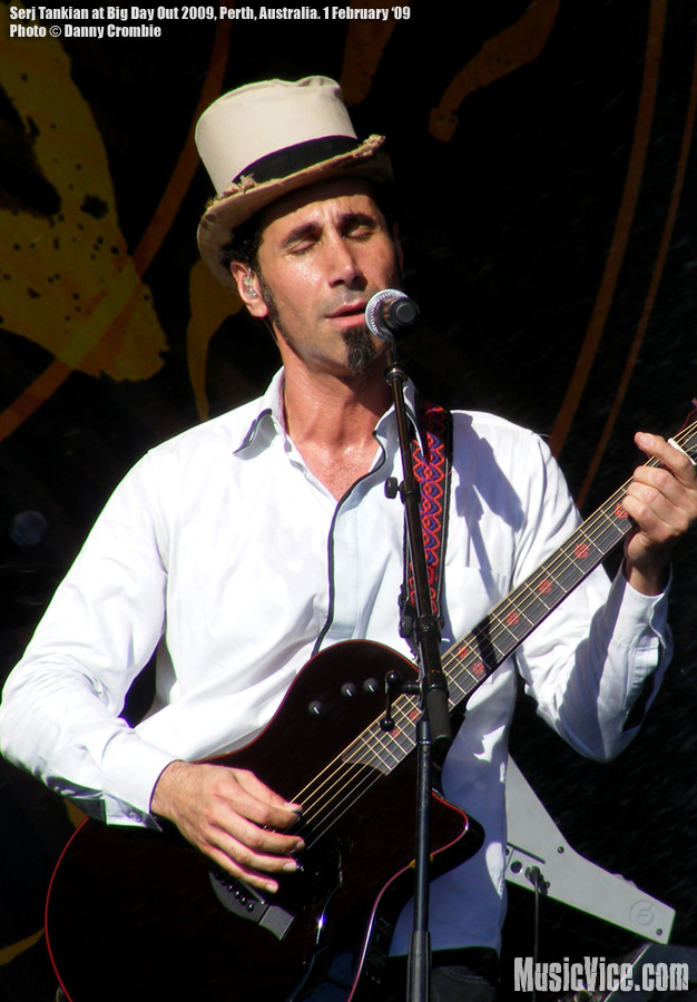 Serj Tankian at Big Day Out - photo by Danny Crombie