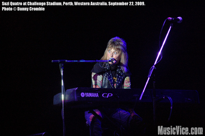 Suzi Quatro at the Challenge Stadium, Perth, Western Australia, 22 September 2009 – Review and Photos