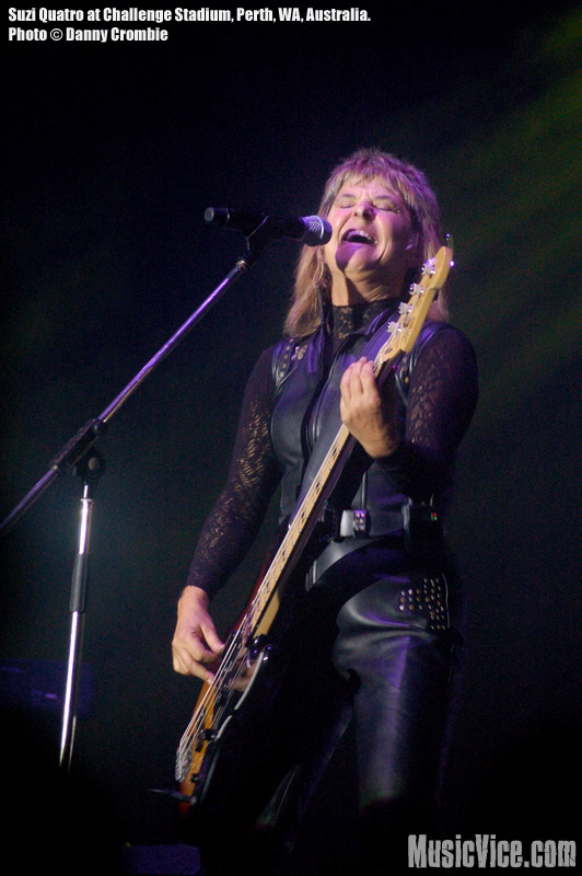 Suzi Quatro at Challenge Stadium, Perth, Western Australia, 22 September 2009 - photo by Danny Crombie - Music Vice