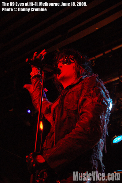 The 69 Eyes at the Hi-Fi Bar & Ballroom, Melbourne, Australia - photo by Danny Crombie for Music Vice