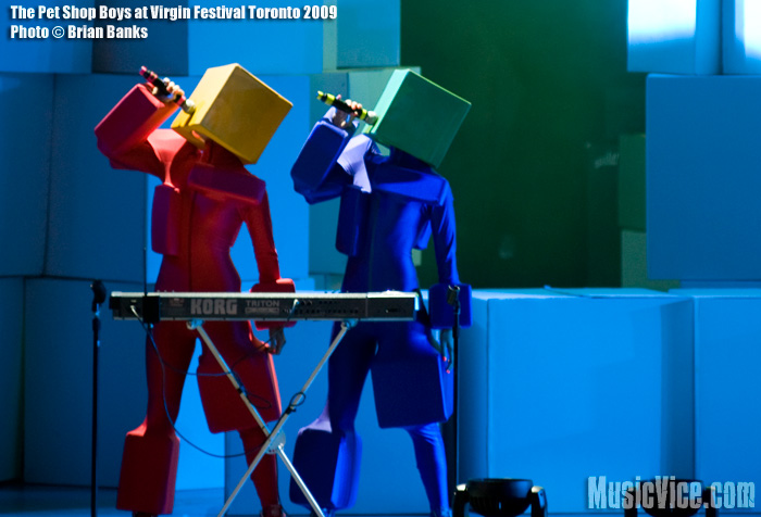 Pet Shop Boys at Virgin Festival Toronto '09 - photo by Brian Banks - Music Vice