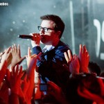 Rivers Cuomo of Weezer performing at Osheaga music festival, 1 August 2010 - photo by Brian Banks, Music Vice