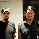 Mike Wengren and Dan Donegan of Disturbed - photo by Brian Banks, Music Vice