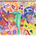 Forgiveness Rock Record drawing by Natascha Malta, Music Vice