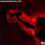 The Flaming Lips' Wayne Coyne at Osheaga music festival 2011, Montreal - photo by Liz Keith, Music Vice