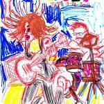 Army Girls sketch drawing by Natascha Malta, Music Vice